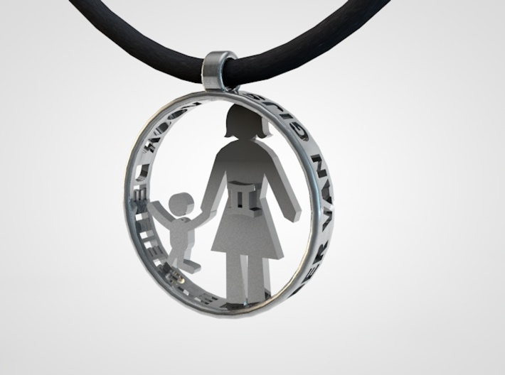 Mothersday Pendant mother and child 3d printed mothersday pendant1
