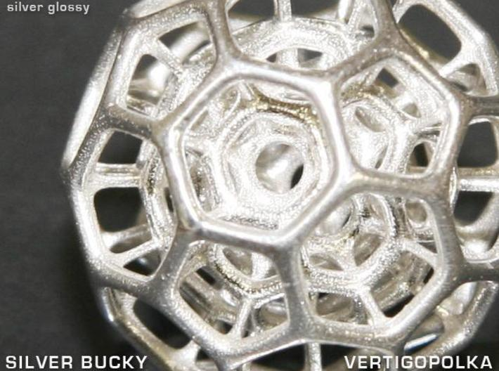 Silver Bucky 3d printed close-up view