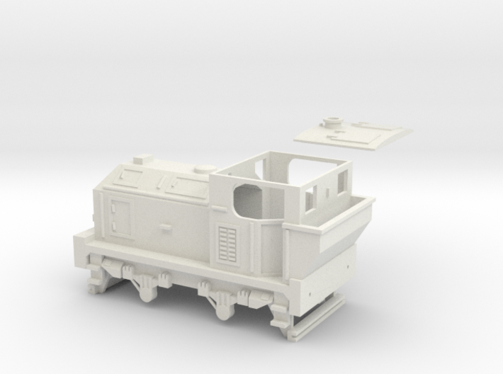00 Scale 100hp (Post-War) Sentinel Shunter 3d printed