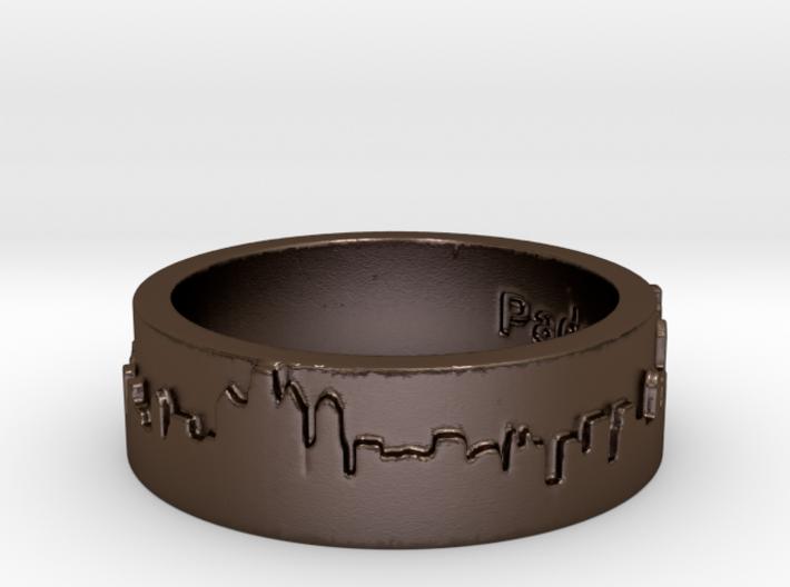 Philadelphia Skyline Ring 3d printed