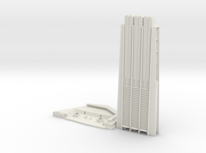 The Index (1:2000) 3d printed