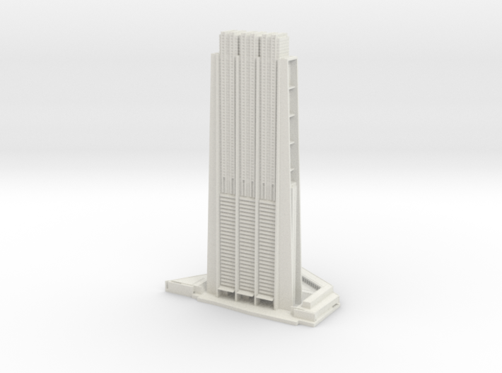 The Index (1:2000) 3d printed Assembled model.