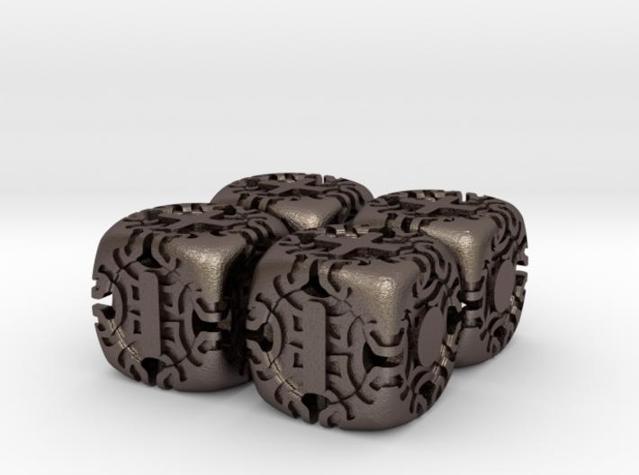 Fudge Art Nouveau d6 4d6 Set 3d printed