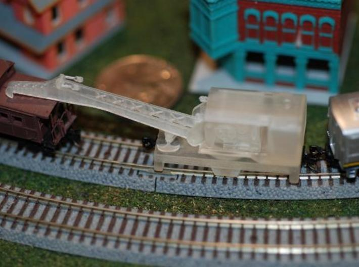 Bucyrus WB150B Railroad Crane - Z Scale 3d printed Yes, that's a penny back there.