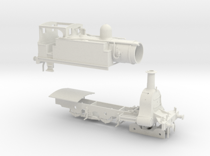 N. L. R. outside cylinder 440 tank loco (small cab 3d printed