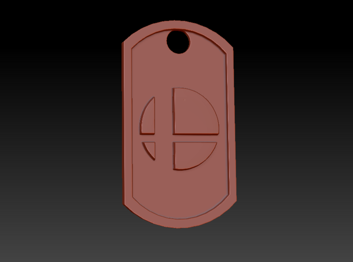 Super Smash Brothers Themed Dog Tag 3d printed