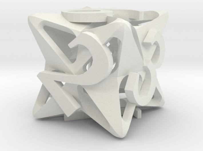 Pinwheel Die6 Ornament 3d printed