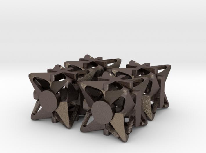 Fudge Pinwheel d6 4d6 Set 3d printed