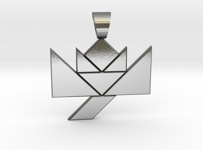 Flower tangram [pendant] 3d printed