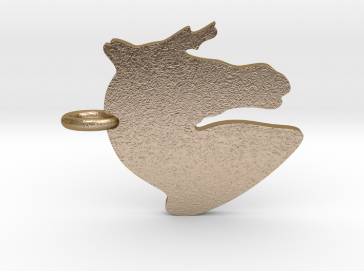 Horse Head Silhouette Pendant 3d printed