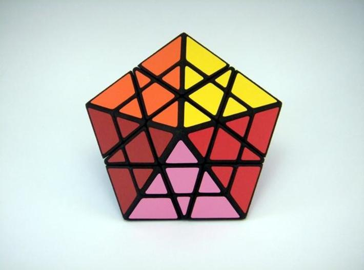 Pentamid Puzzle 3d printed Solved