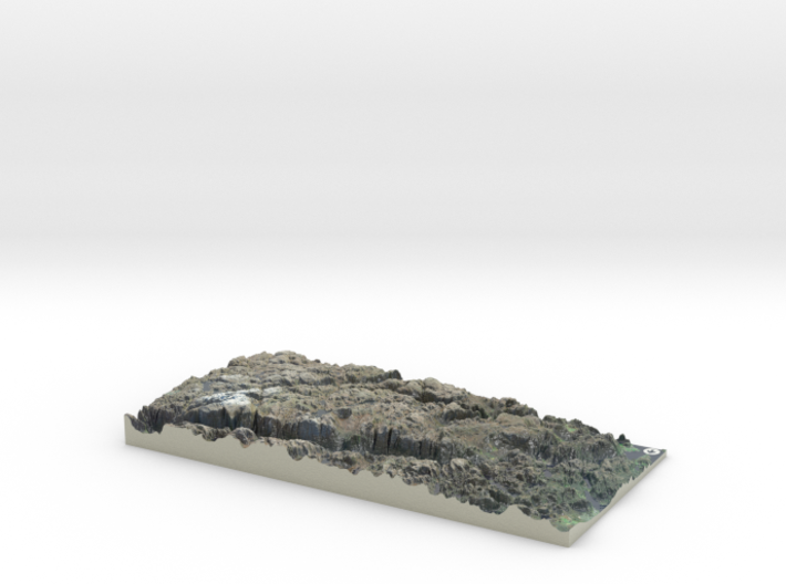 Lysefjord / Lysefjorden Satellite Map, Norway 3d printed