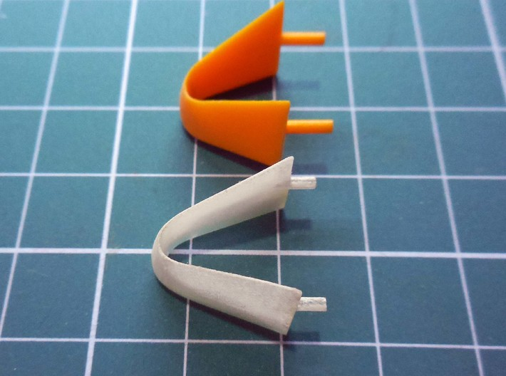 Lola T93 roll-over bar 3d printed comparison with the original kit part
