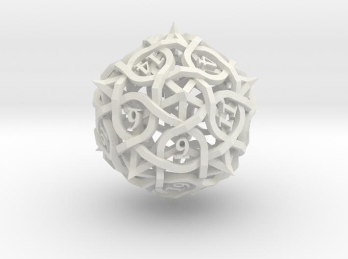 Thorn Die20 Ornament 3d printed