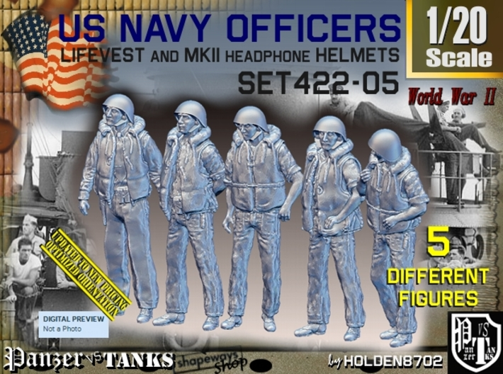1/20 USN Officers Kapok Set422-05 3d printed