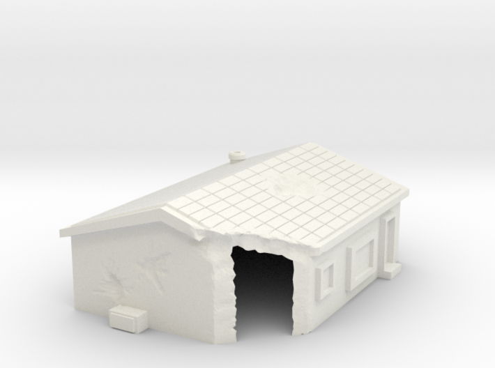 Damaged house 1 -free download 3d printed