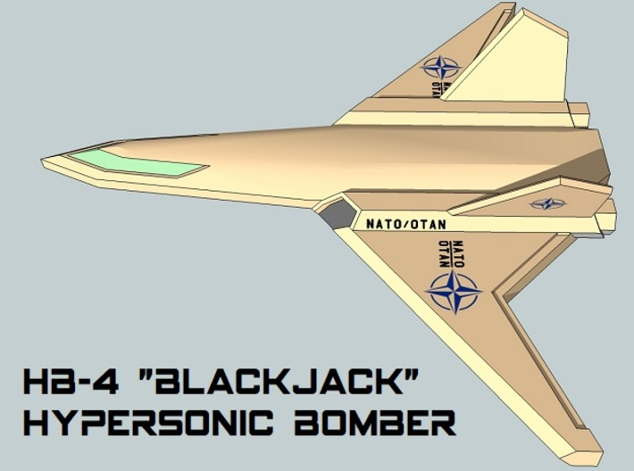 3mm Sci-Fi Hypersonic Bombers (2pcs) 3d printed