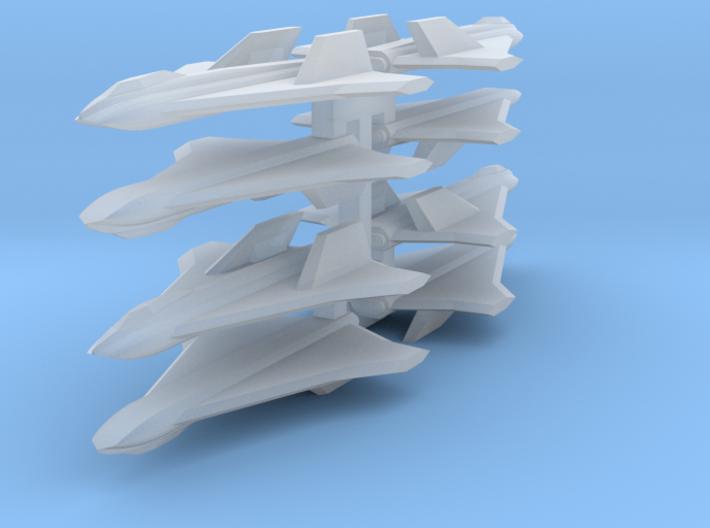 3mm Sci-Fi Strike Fighters (8pcs) 3d printed