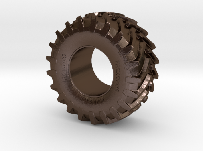 2cm Miniature Trelleborg Tractor Tire 3d printed