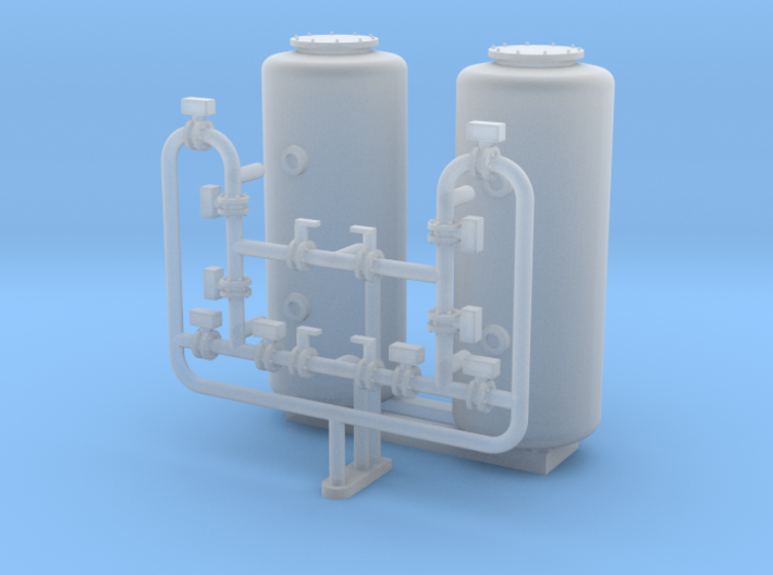 HO Scale Sand Filter 3d printed