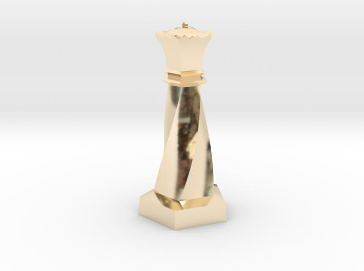 Geometric Chess Set Queen 3d printed