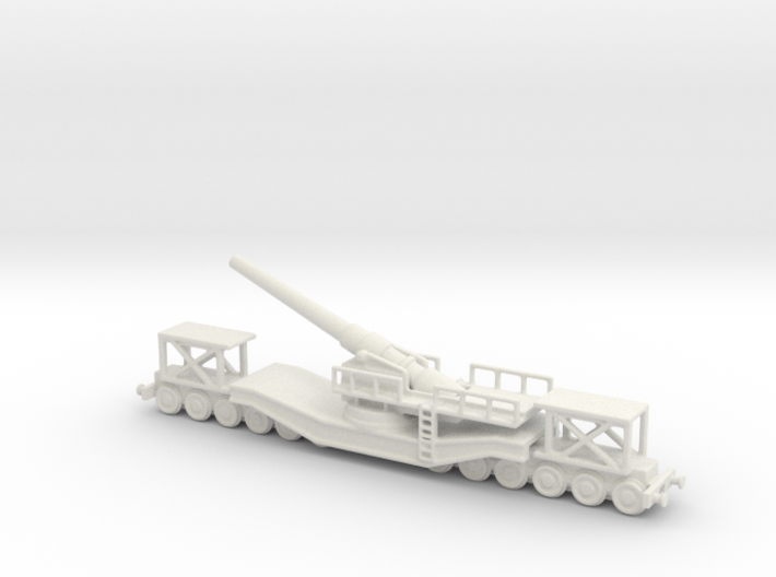 cannon de 240 1/144 railway artillery 3d printed