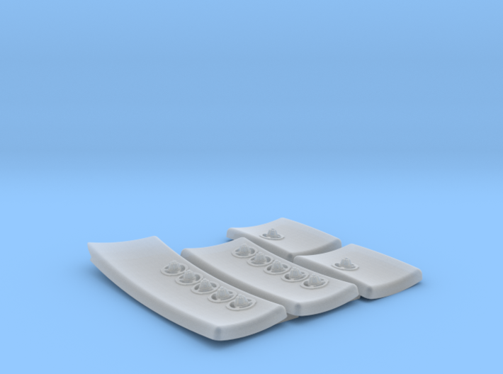 DeAgo Falcon Corridor - Starboard Pads with Sconce 3d printed
