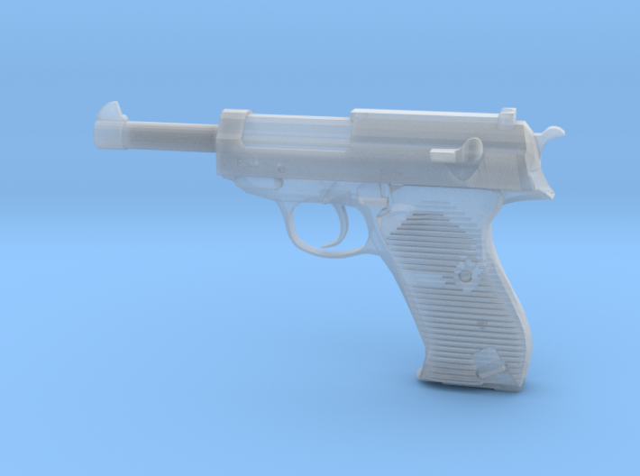 1/4 Scale Walthers P38 Pistol 3d printed