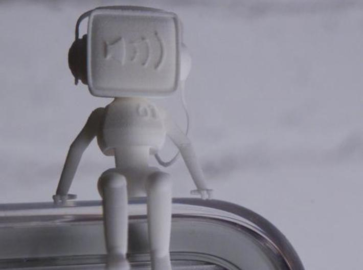Desktop Buddies: Robo 01 3d printed White Strong Flexible, portrait