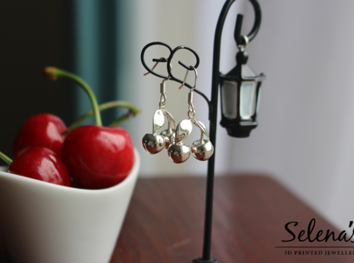 The Cherry Earrings 3d printed