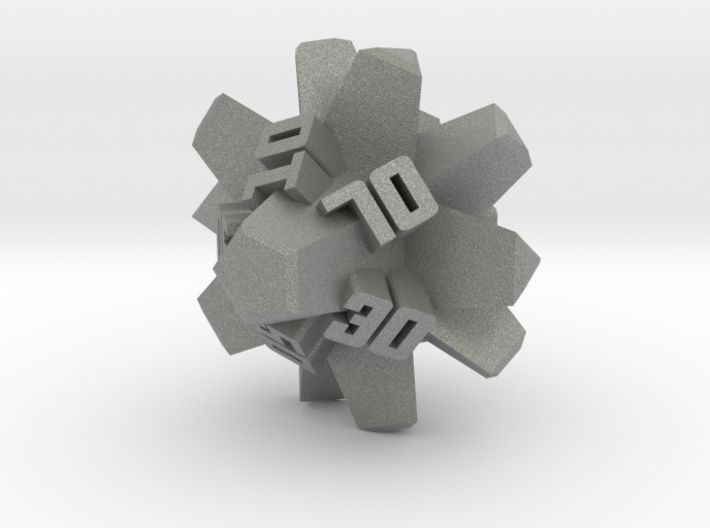Brutalist Dice Set — Version 2 Singles 3d printed