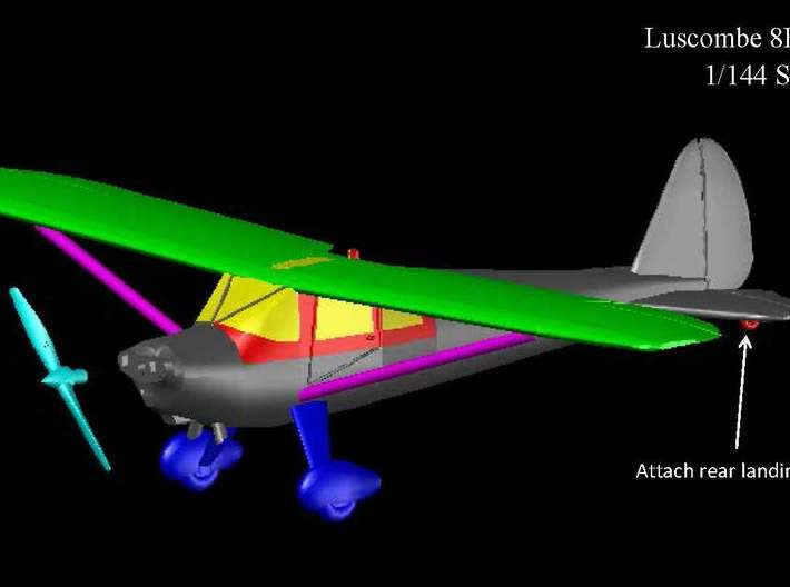 Luscombe8E-144scale-2-Wings 3d printed