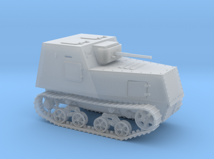 1/100th scale KHTZ-16 soviet armoured tractor 3d printed