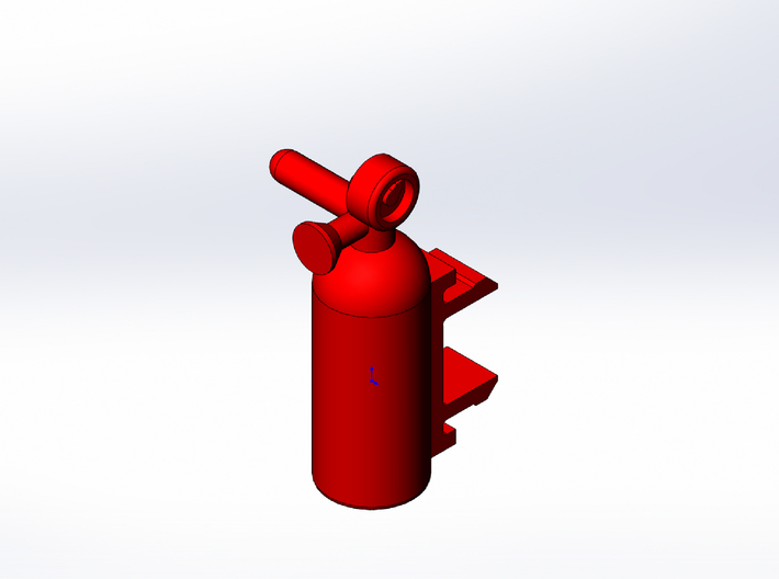 Rokenbok Fire Extinguisher 3d printed