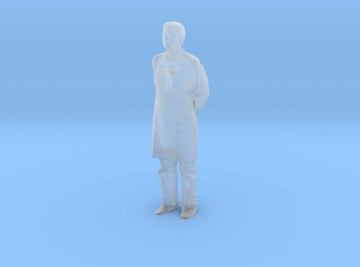 S Scale man in an apron 3d printed This is a render not a picture