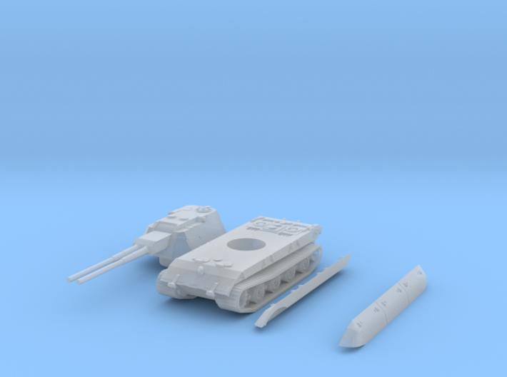 flakpanzer E100 scale 1/144 3d printed