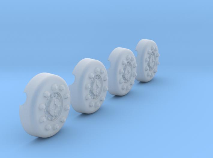 1/18 Dragon Wagon Wheel Center Set104 3d printed