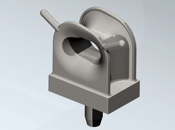 Deck Fairlead 125% (5 pcs.) 3d printed Single deck fairlead in coloured, rendered view.