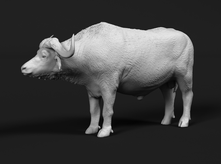 Cape Buffalo 1:72 Standing Male 3 3d printed