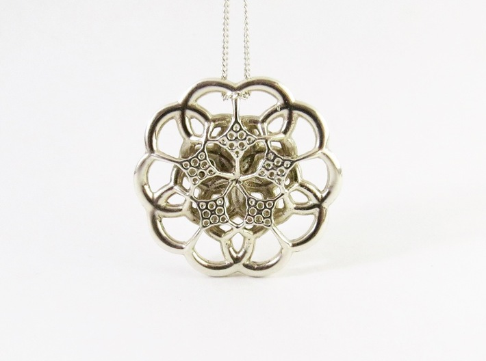 Contemporary Flower Pendant 3d printed