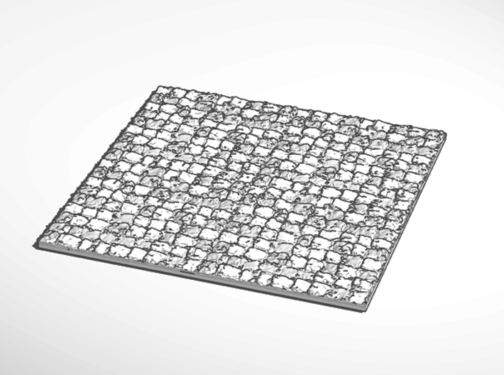 mini display base stone surface square 3d printed External Render