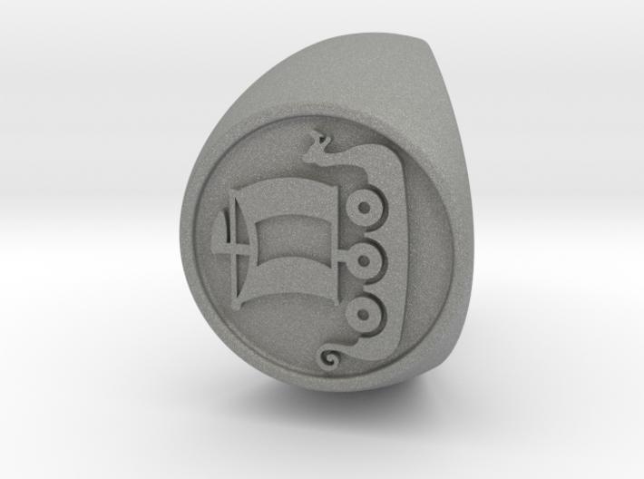 Custom Signet Ring 56 Size 9.5 3d printed