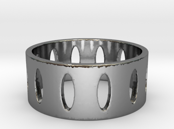 Ovals Ring Size 7 3d printed