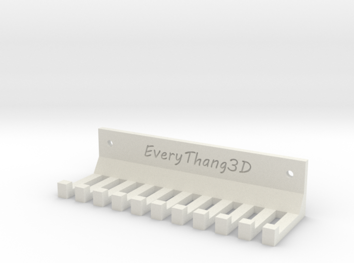 Cable Management for Wall or Table Mount (10 Slots 3d printed