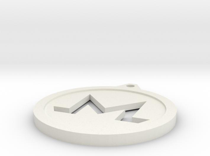 Monero Keychain 3d printed