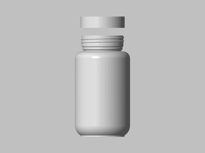 Nutrition Bottle 3d printed Top View