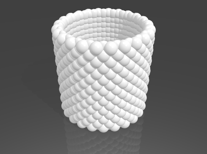 Pebble Cup - Checkered Pattern 0 (Small Size) 3d printed