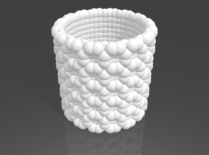 Pebble Cup - Checkered Pattern 1 (Small Size) 3d printed