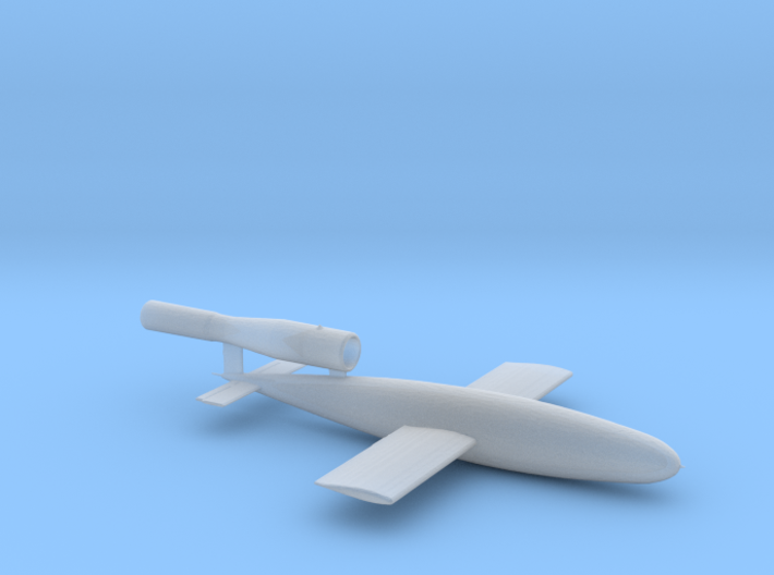 Fieseler V1 Buzz Bomb hollowed with hole at bottom 3d printed