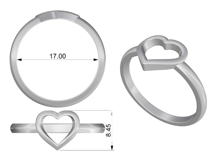 Heartring 3d printed